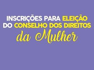 Inscrições para eleição do Conselho dos Direitos da Mulher terminam dia 2 de abril