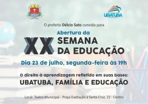 Convite semana da educação