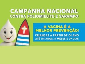 Campanha de Vacinação contra a pólio e o sarampo é prorrogada até 14 de setembro