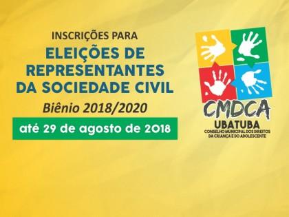 CMDCA Ubatuba abre inscrições para sociedade civil