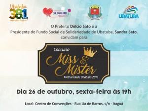 Concurso Miss e Mister Melhor Idade abre Feira das Nações de Ubatuba