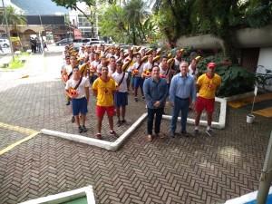 Integrantes do curso de Guarda Vidas Temporário visitam a Prefeitura
