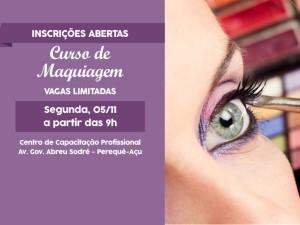 Centro de Capacitação Profissional recebe inscrições para curso gratuito de maquiagem