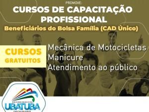 Cursos da secretaria de Assistência Social de Ubatuba têm início na quinta-feira