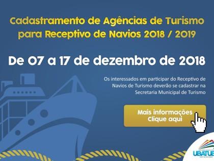 Cadastramento de Operadores Turísticos para receptivos de cruzeiros começa hoje