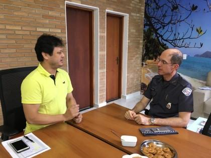 Comandante do Policiamento do Interior visita Ubatuba