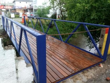 Troca da passarela da Capitão Felipe é feita antes do prazo