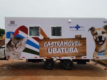 Região Sul de Ubatuba recebe castramóvel