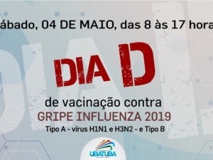 """Ubatuba tem dia """"D"""" de vacinação contra a gripe influenza"""