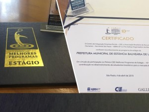 Ubatuba é uma das 10 finalistas do Prêmio Ciee  – Melhores Programas de Estágio 2018