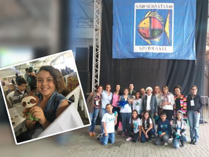 Aluna de Ubatuba ganha concurso que elegeu mascote de evento