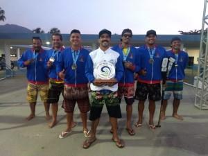 Atletas de Ubatuba se destacam na 1ª etapa do Campeonato Brasileiro de Va'a