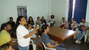 Reunião com a comunidade da Picinguaba