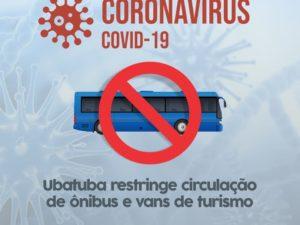 Ubatuba restringe circulação de ônibus e vans de turismo