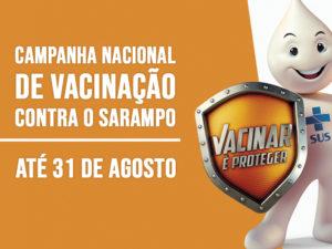 Postos de saúde participam da Campanha Nacional de Vacinação contra o Sarampo