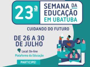 23ª Semana da Educação acontece online em Ubatuba